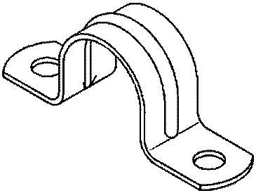 Befestigungsbride 40mm