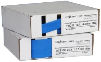 SS blau 25,4-12,7, 5m-Karton