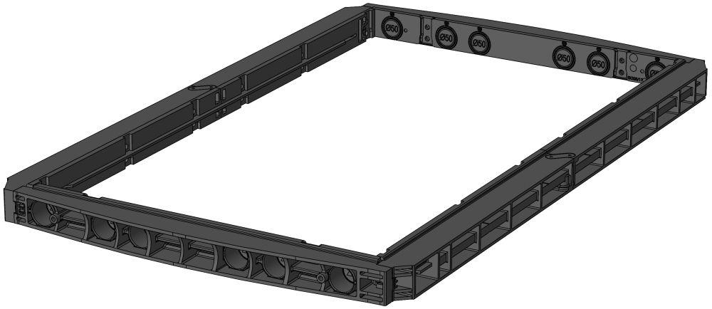 EK 428 Rahmen, H: 70mm
